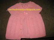 2013 pembe poponlu bebek yelek modeli