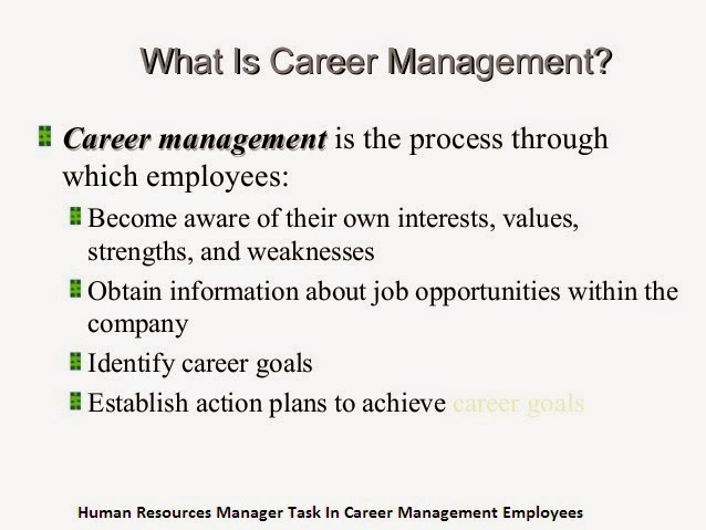 Human Resources Manager Task In Career Management Employees 3