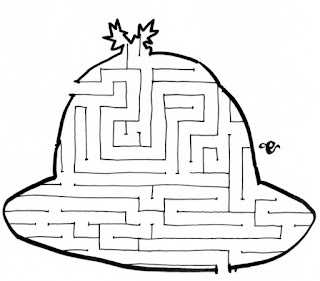 Christmas pudding maze, activities for children