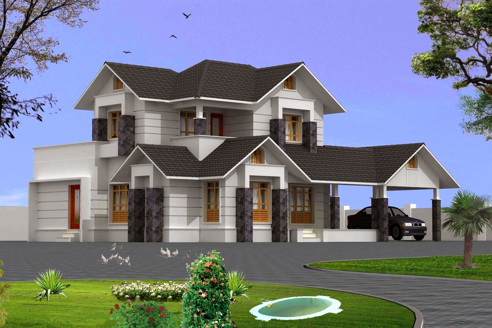 3D New Houses With Amazing Decoration and Styles