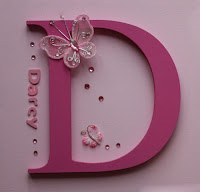 Pink Personalised Butterly Canvas Name for Girls Bedroom Gifts