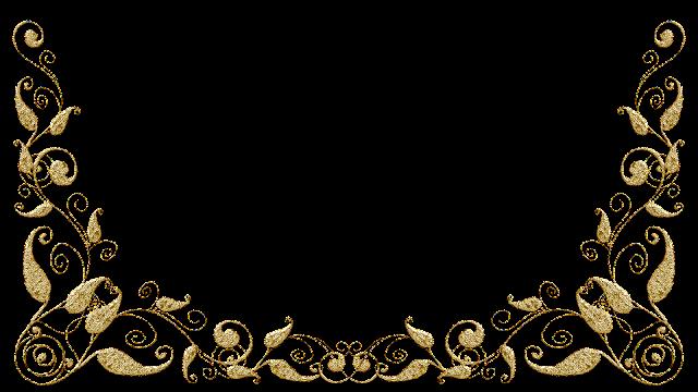Molduras arabescos dourados 10 png