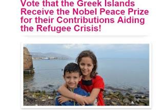 Ψηφίστε για να πάρουν τα ελληνικά νησιά το Νόμπελ Ειρήνης για τη συμβολή τους στην προσφυγική κρίση!