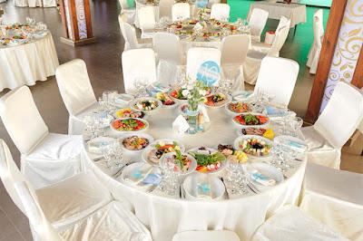 Die Anordnung von runden Tischen