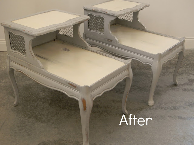 Forever Decorating!: Oh so French End Tables!