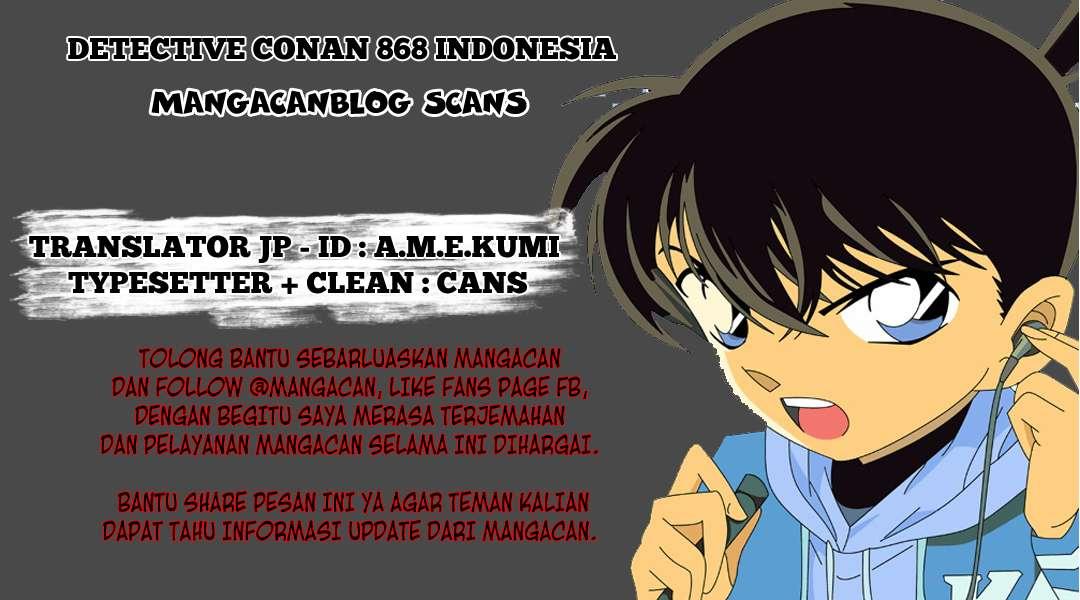 Dilarang COPAS - situs resmi www.mangacanblog.com - Komik detective conan 868 - kucing keberuntungan 869 Indonesia detective conan 868 - kucing keberuntungan Terbaru |Baca Manga Komik Indonesia|Mangacan