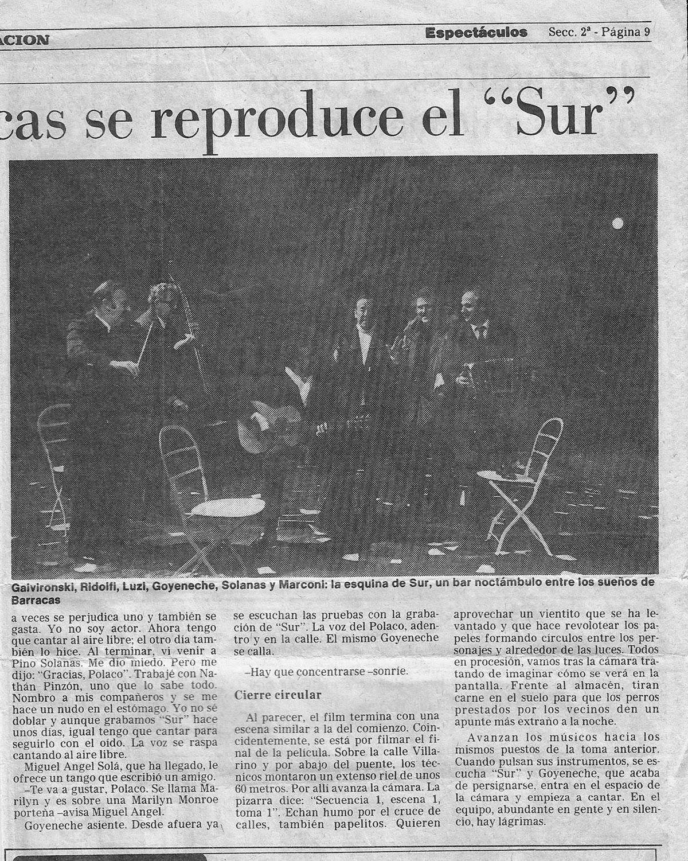"""Raúl Luzzi en """"Sur"""""""