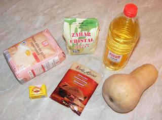 ingrediente pentru prepararea brioselor cu dovleac, retete culinare, retete cu dovleac placintar, preparate din dovleac, retete briose de post umplute cu dovleac,