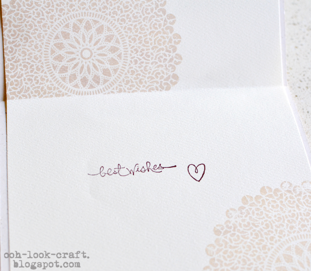 Ooh, Look - Craft: Wedding Card - Love