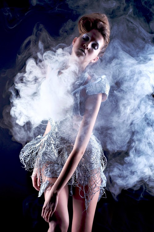 Smoke Dress Anouk Wipprecht Wearable Tech weird wired wondrous Fashion technology inventions and smart Clothing