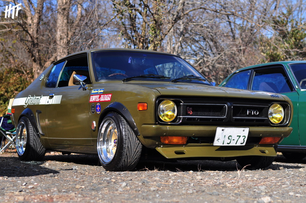 Mitsubishi Galant FTO stary japoński samochód, klasyk, oldschool, 日本車, クラシックカー