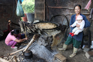 Pa Dí ethnic women in Mường Khương