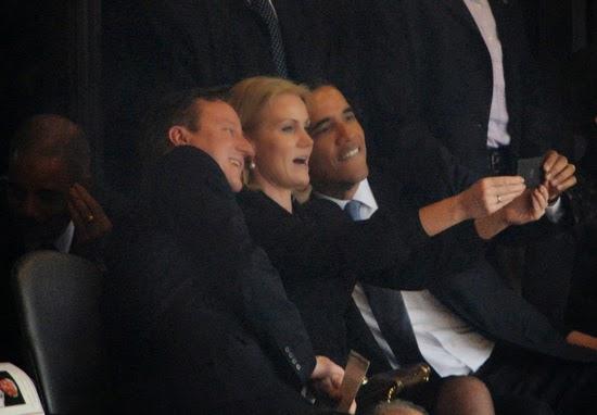 Cameron, Obama and Thorning-Schmidt Selfie Politics Social Media Election Campaign