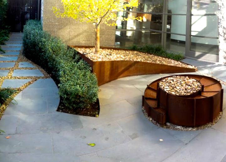 Steel fabrication jenny smith gardens for Nautilus garden designs