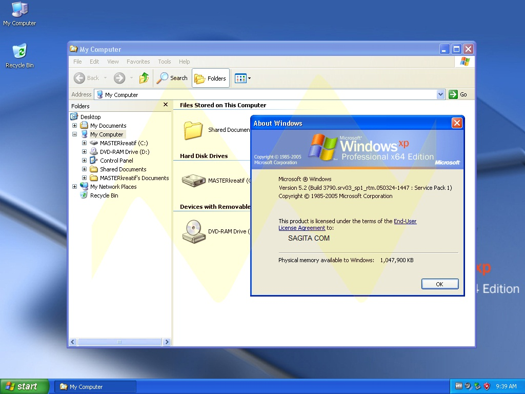 Master ISO Windows XP Professional 64-bit