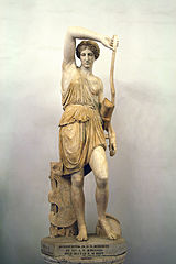 Wounded Amazon.the Amazons were a race of woman warriors.