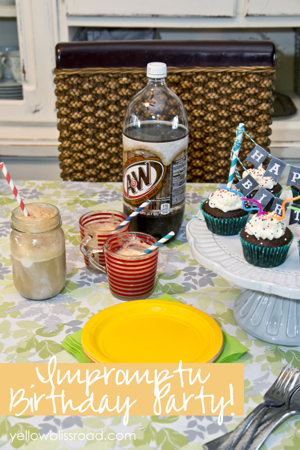 Tips for treating yourself to an impromptu birthday party! Your kids will LOVE this!!