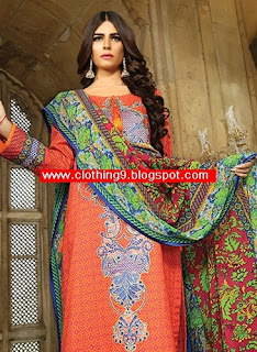 SNM Embroidered Eid Lawn Dresses Collection 2015