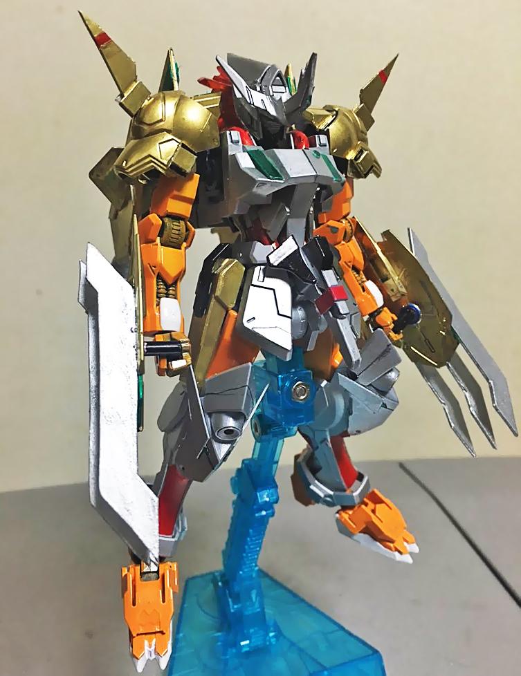 GUNDAM GUY: HG 1/144 Gundam Barbatos Wargreymon X - Custom ...