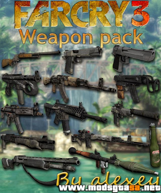 SA - Pack de Armas do FarCry 3