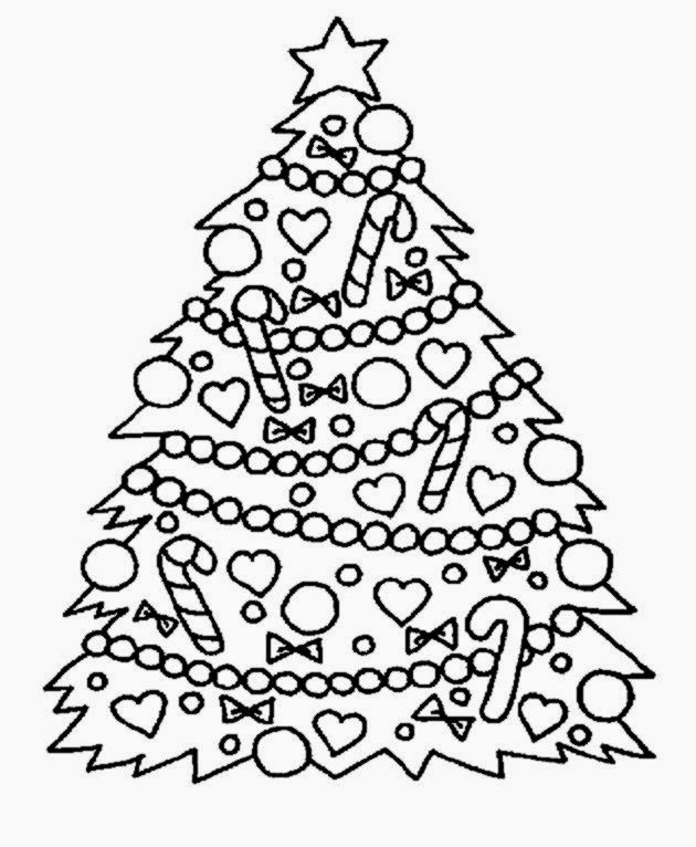 christmas tree pictures to color free coloring pictures