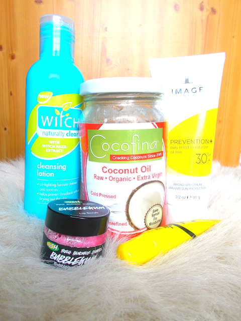 My Top 5 Natural Beauty Enhancers including Witch, Image Skincare, Dr PAW PAW, LUSH & coconut oil.