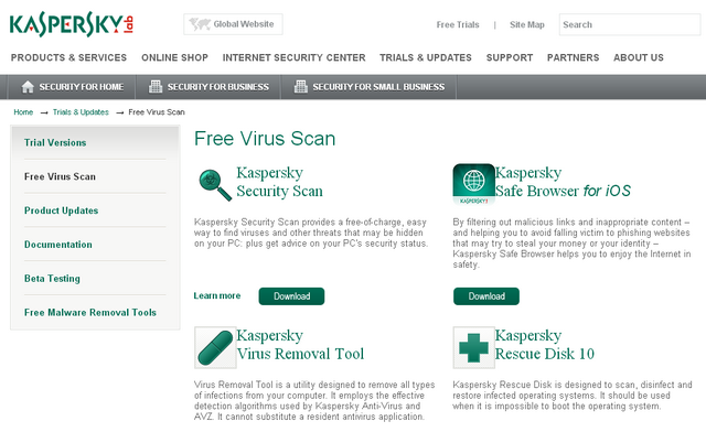 housecall virus scanner: