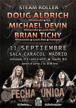 Concierto de Steam Roller (Aldrich, Deviny y Tichy) en Madrid en septiembre
