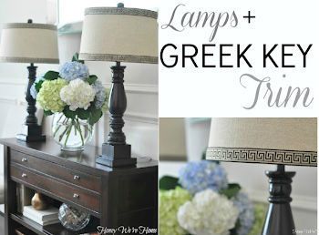 Greek Key Lamps
