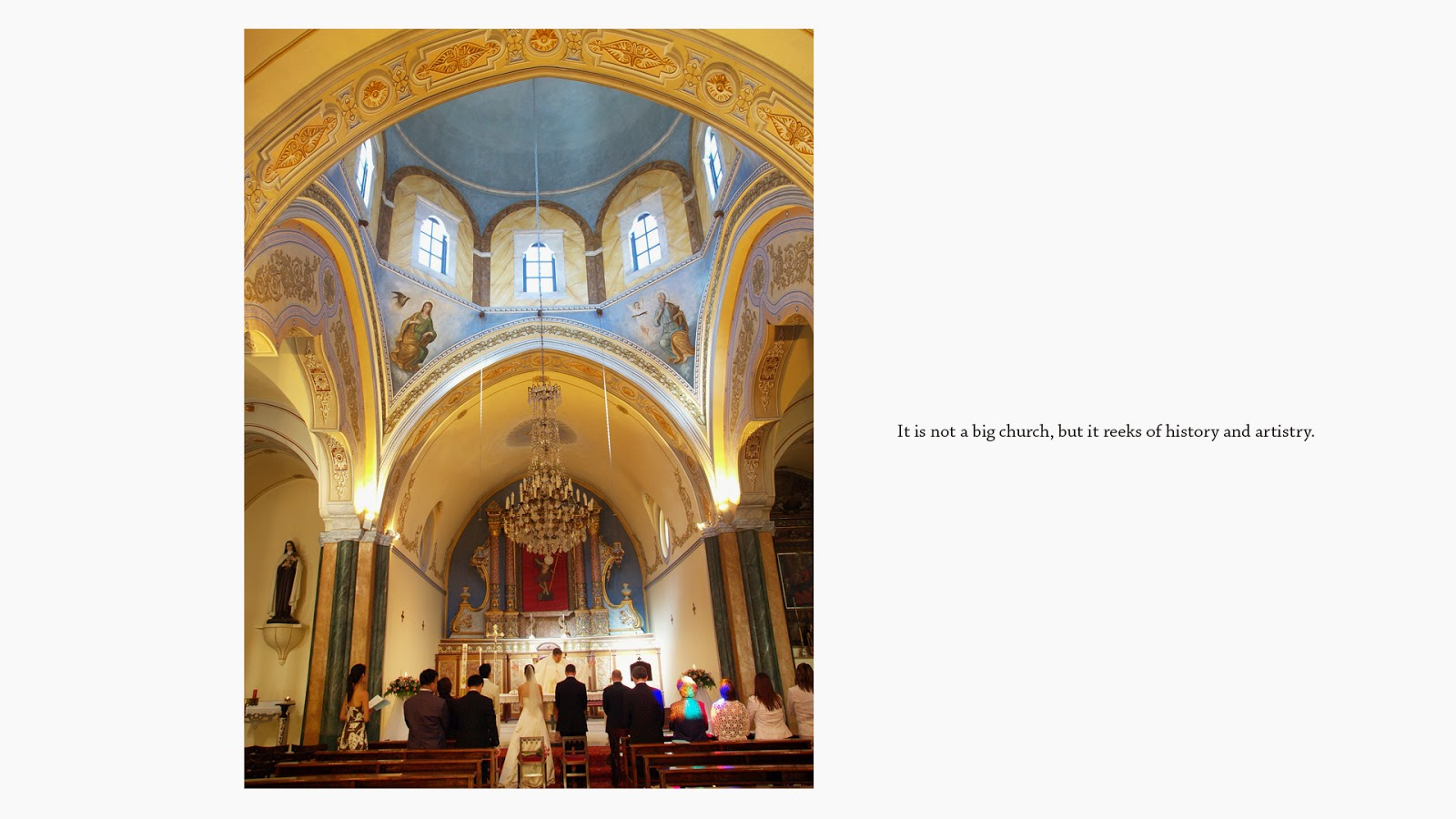wedding photography singapore santorini church interior