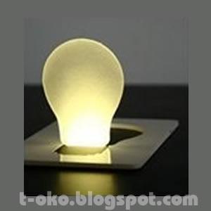 JUAL POCKET LED LAMP - LAMPU UNIK SETIPIS KARTU, Barang Unik, Produk Unik