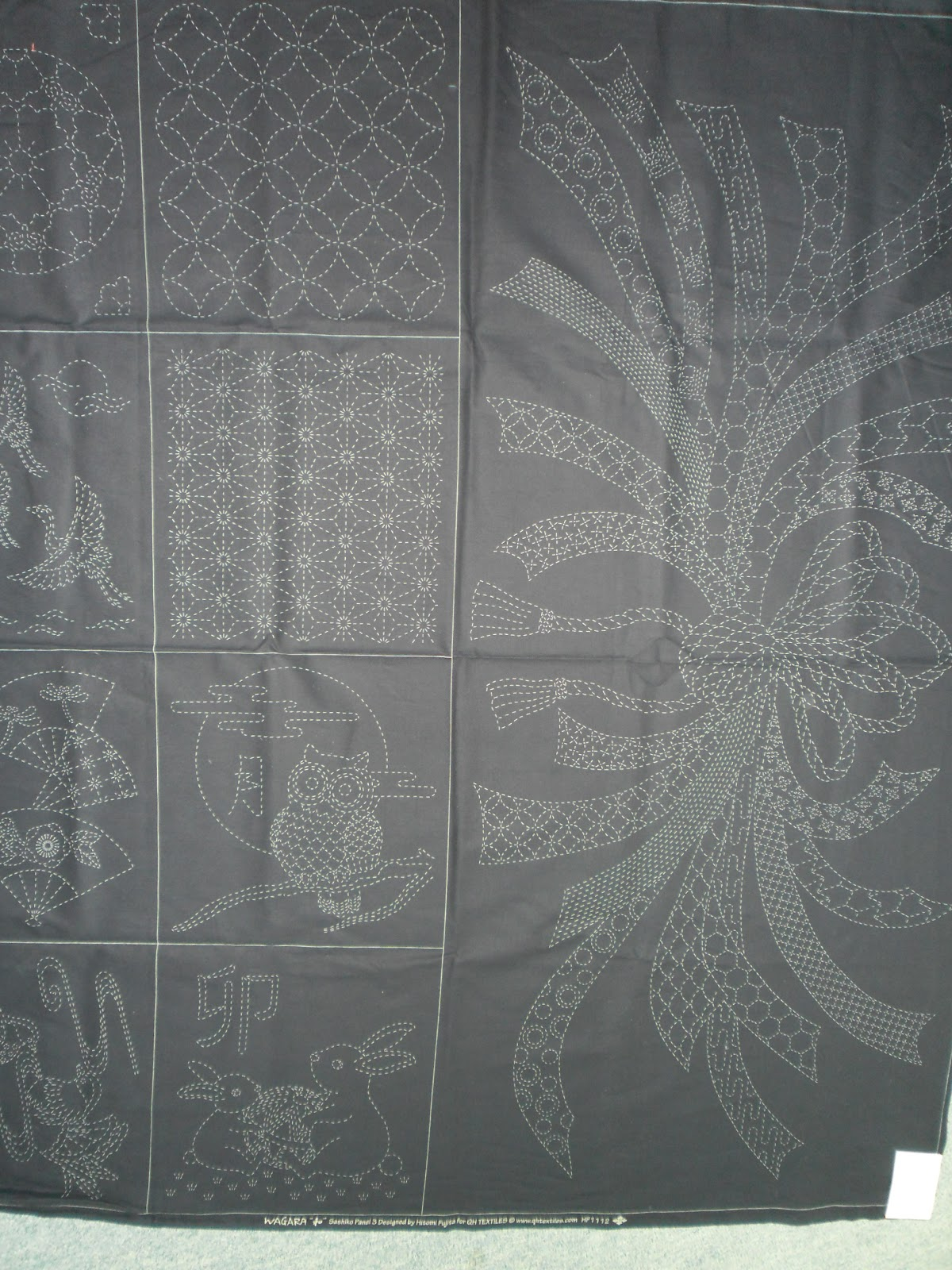 Village Books And Crafts Japanese Sashiko Fabric