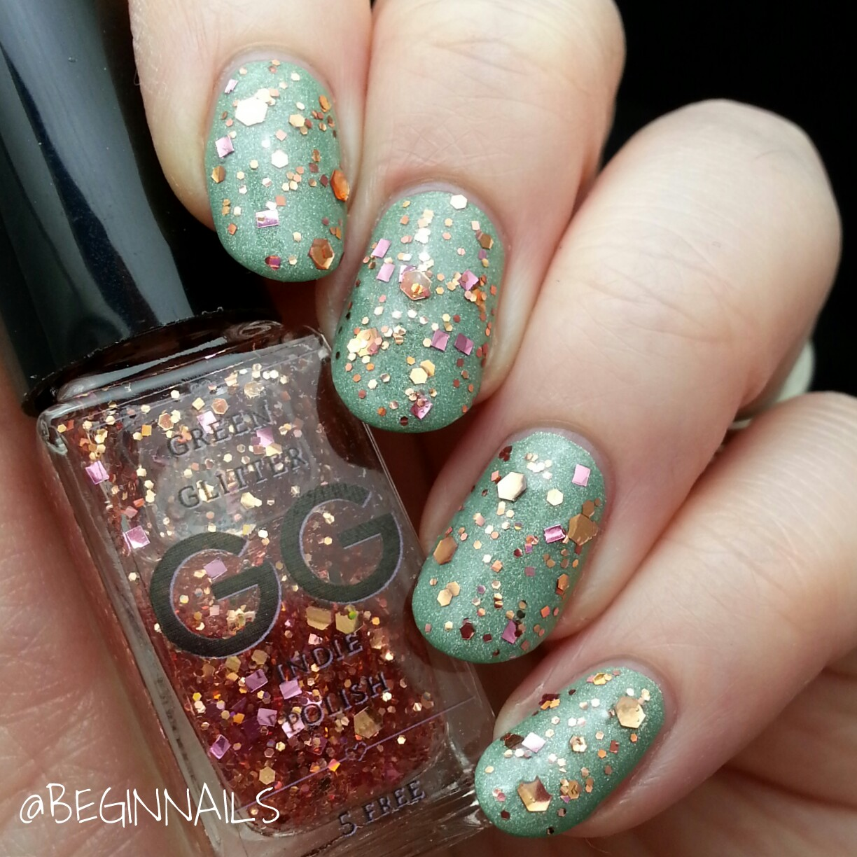 Let\'s Begin Nails: GG Indie Polish Glitter Toppers Swatch and Review