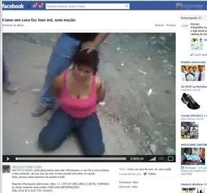 Mulher sendo decapitada ainda estar no Facebook