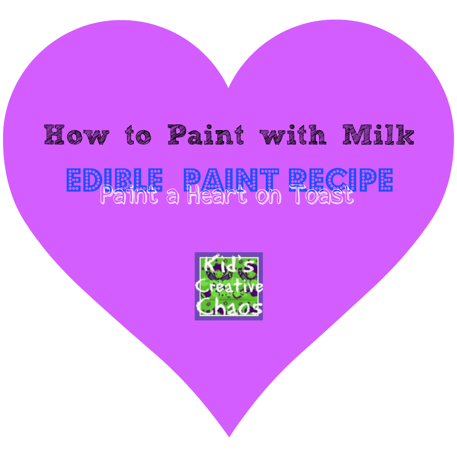 Toddler Valentine Craft: How to Make Milk Paint