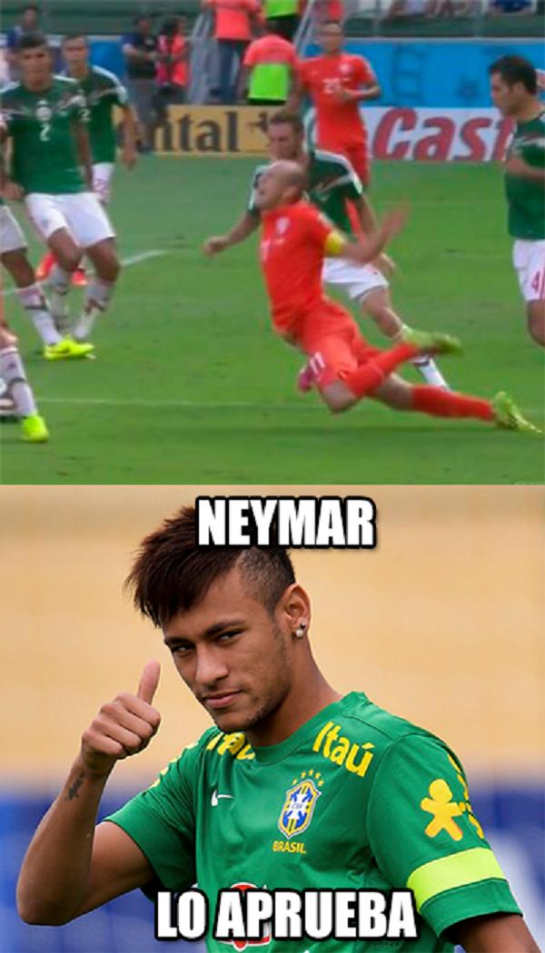 Robben imitando a Neymar