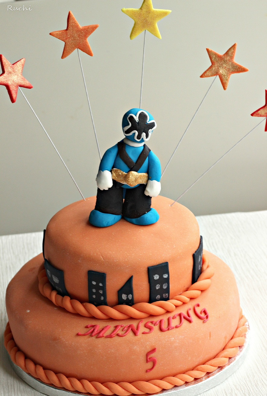 Cake Images Ruchi : RUCHI: Power Ranger s Cake , A Strawberry Cake with ...