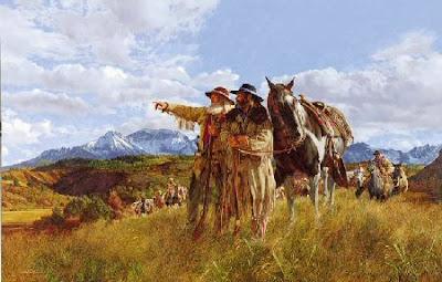 Hombres en la montaña