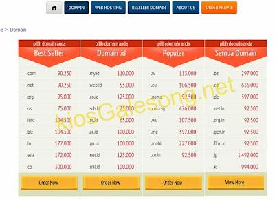 daftar harga domain murah di kiosgalesong.net