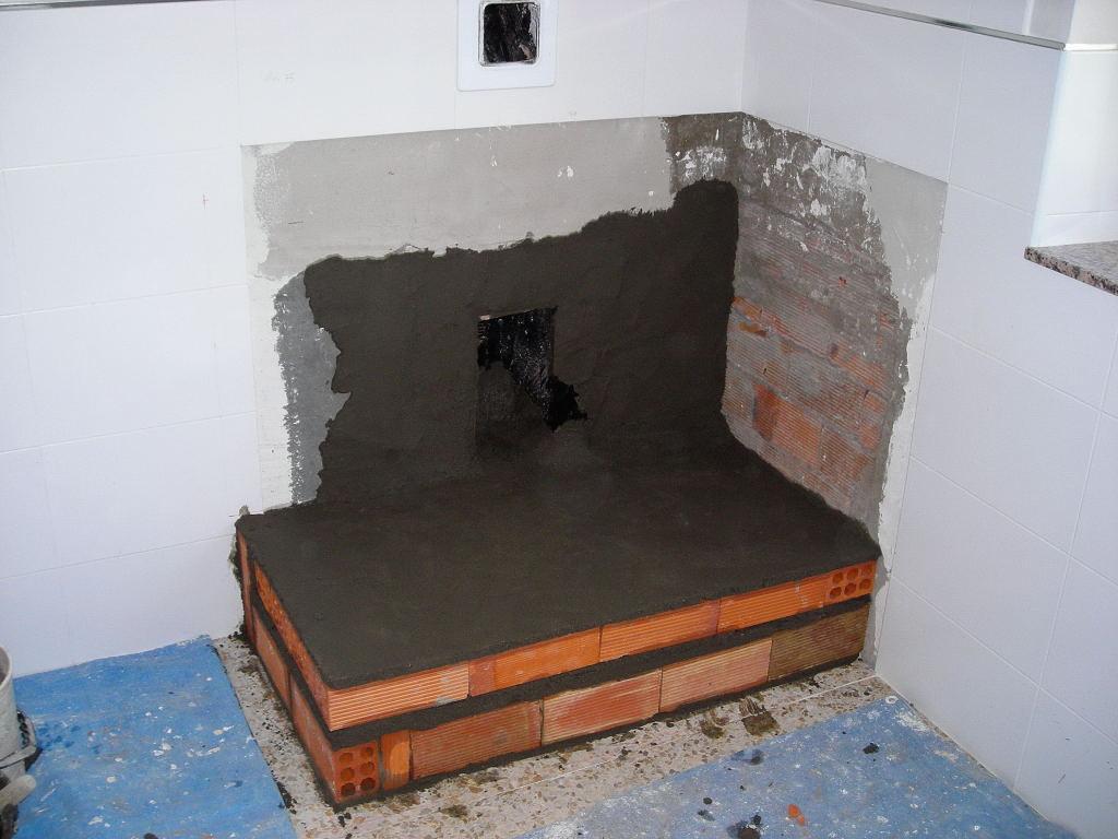 El ti joaqu n com instalaci n de una cocina econ mica - Como hacer una chimenea de obra ...