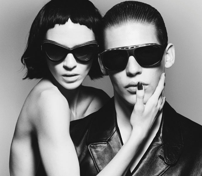 Yves Saint Laurent SS2012 sunglasses: layer it on...
