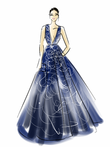 Jenna Dewan-Tatum Dress Illustration