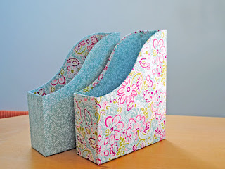 fabric covered ikea magazine files