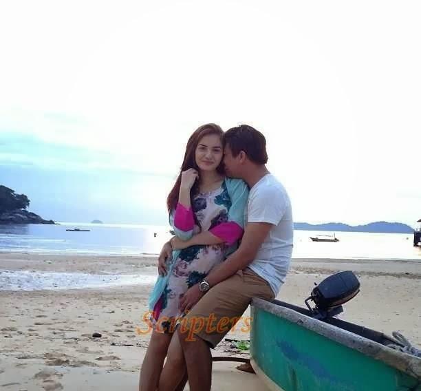 Gambar Hanez Suraya Berpeluk Sakan Bersama Romie Di Pulau Tioman