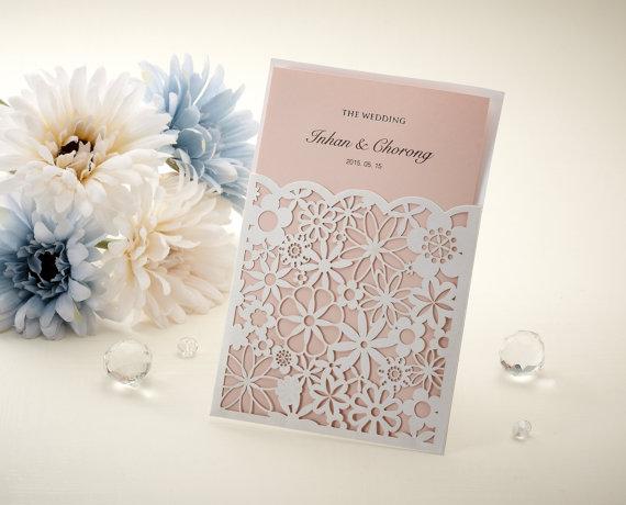 Ażurowe Zaproszenia ślubne Inspiracja Pomysł Koncepcja