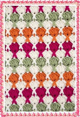 ´Ponto em Crochê duas cores com gráfico