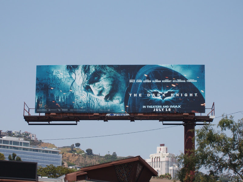 Joker Dark Knight movie billboard