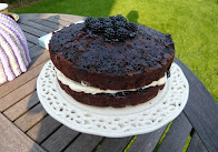 blackberry and chocolate upside down cake