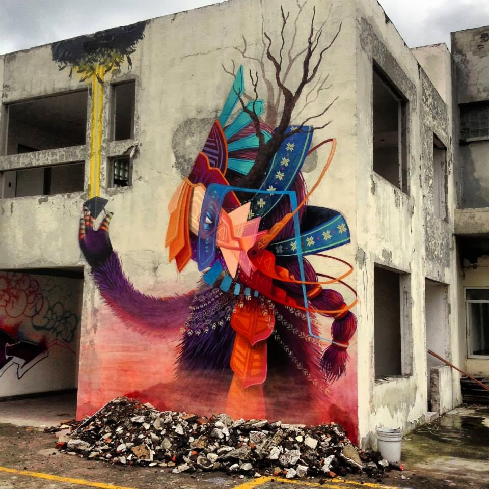 Curiot new street art mural for proyecto fr gil in mexico for Mural street art