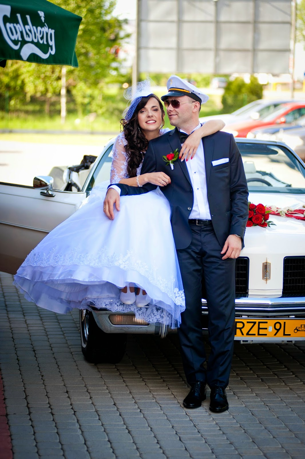 sesja ślubna, miejsce na sesję ślubną, samochody do ślubu, jakim samochodem do slubu